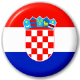 Croatia Country Flag 25mm Pin Button Badge